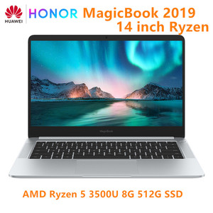 Original HUAWEI HONOR MagicBook 2019 Laptop Notebook Computer 14 inch AMD Ryzen 5 3500U 8G 256/512GB PCIE SSD FHD IPS Laptops