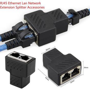 1 do 2 sposobów RJ45 LAN kabel sieciowy Ethernet żeńskie złącze rozdzielacz Adapter do laptopa stacje dokujące rozszerzenie sieci tanie i dobre opinie Skatolly CN (pochodzenie) Adapter kabla Dostępny w magazynie Computer Cables Connectors Three are RJ45 eight core standard jack socket