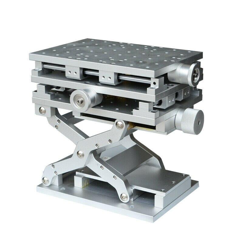 Machine de gravure de marquage Laser laboratoire optique axe XYZ Table mobile 210x150x150mm