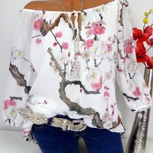 Oversized blouse 2020 summer chiffon shirt printed word shou