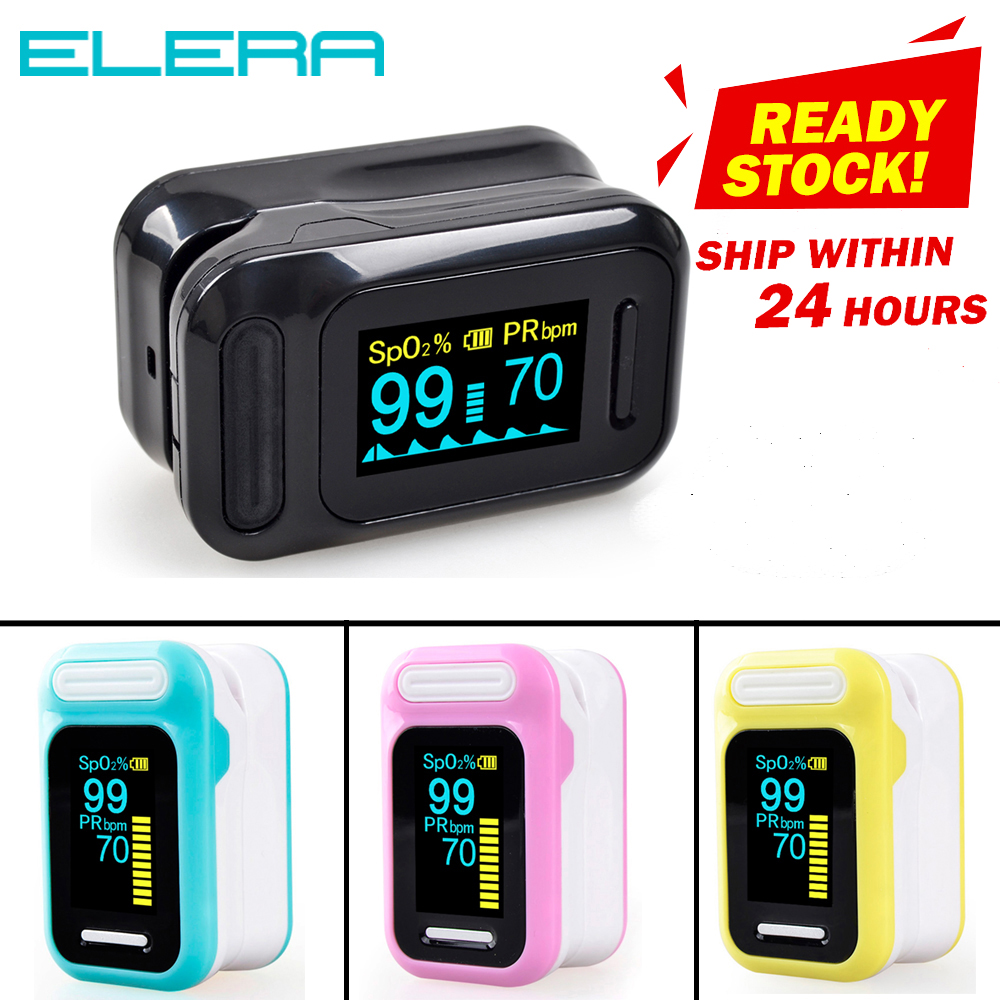 ELERA Portable Finger Pulse Oximeter Blood Oxygen Saturation Meter Fingertip Pulsoximeter SPO2 Monitor Oximetro Dedo Oximeter