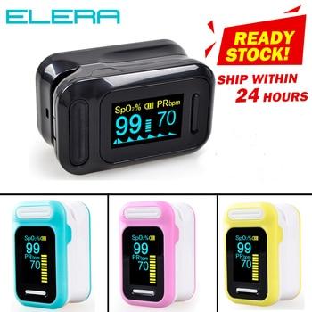ELERA Portable Finger Pulse Oximeter Blood Oxygen Saturation Meter Fingertip Pulsoximeter SPO2 Monitor Oximetro Dedo Oximeter