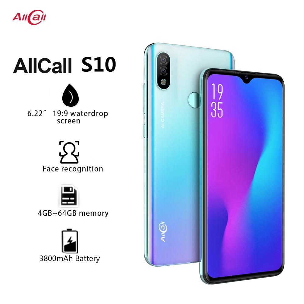 "Original Smartphone Allcall S10 Helio P23 4GB+64GB Octa core 16MP Dual-camera 6.22"" Waterdrop Screen 4G LTE Mobile Phone"