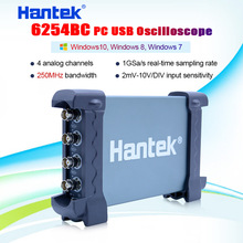 Hantek 6254BC Digital Oscilloscope 250MHz 4 CH 1GSa/s waveform record PC USB connect with  replay function