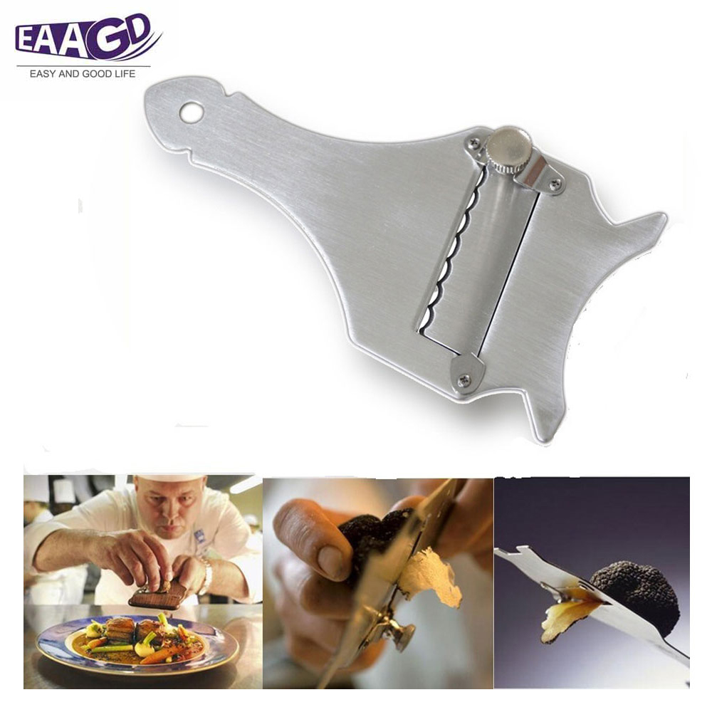 1Pcs Cheese Chocolate Vegetables and Truffle Slicer - Stainless Steel Adjustable Elegant Durable Shaver Razor Blade image