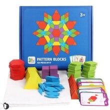 155 pz/set Colorato Puzzle di Legno Di Puzzle Del Bambino Giocattoli Rompicapo Per Bambini di Apprendimento di Sviluppo Giocattolo Educativo Montessori