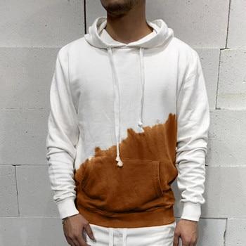 2021 New Men Autumn Winter Long Sleeve Printed Hooded T Shirt Top Tee Outwear Blouse Man Clothing Warm Men's Top Sweatshirt 2