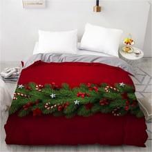 3D Xmas Duvet Cover Christmas Quilt Covers Comforter Case Beding Bag 140x210cm Full Twin Single Double