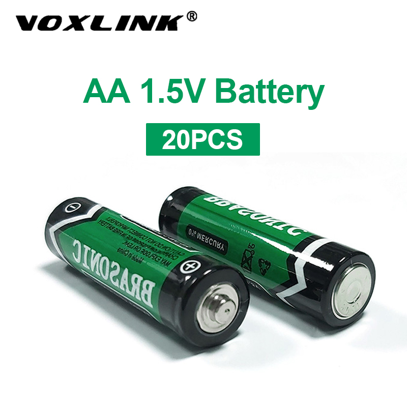 VOXLINK 20PCS <font><b>1.5V</b></font> <font><b>aa</b></font> <font><b>battery</b></font> LR6 AM3 E91 MN1500 Alkaline Dry <font><b>Battery</b></font> Primary <font><b>Battery</b></font> For mp3 camera flash razor electric mouse image