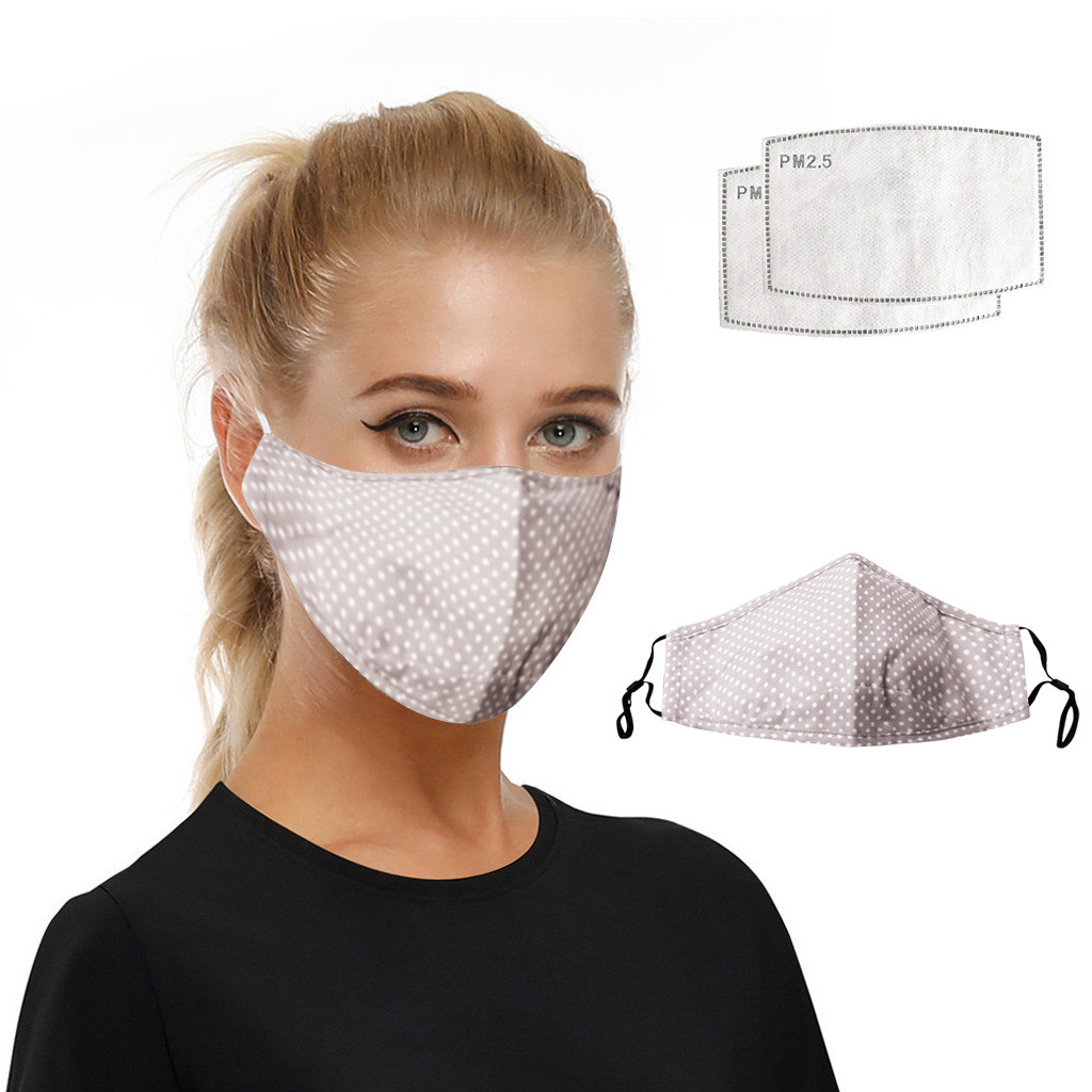 Universal Dust-proof And Smog-washable With Filter For Adults Washable Reusable Women Windproof Mouth-muffle Face Respirator#E20