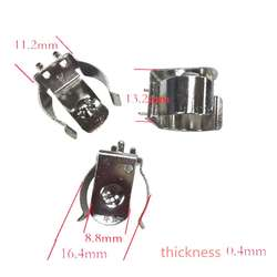 10 шт. 18650 зажимы для аккумуляторов зажим для 18650 CR123A батарея пружинная стальная TBH-18650-CLIP01 аксессуары X6HB