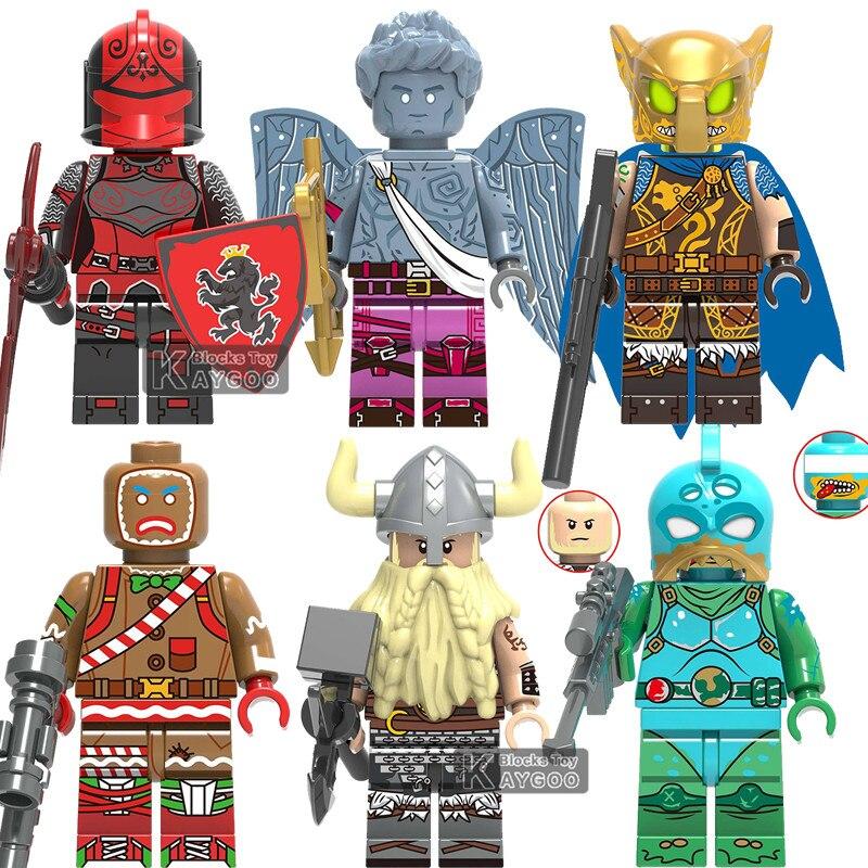 X0228 LegoINGly Fortnited TPS Action Figure Battle Hound Red Knight Love Ranger Magnus Building Blocks Kids Toys For Children