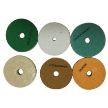 8pcs 4 5 Inch Sponge Granite 100mm Diamond Sponge For Polishing Wet Using Stone Buffing Granite Marble Polishing Pads