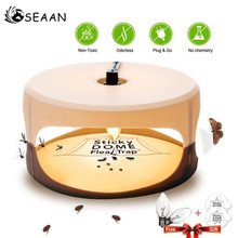 SEAAN Useful Sticky Dome Flea Trap Lamp Refill Non-Poisonous Safe Pest Control with Out Pesticides Physical  Roach Killer