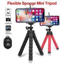 Гибкий держатель для штатива Осьминог для iPhone huawei с дистанционным управлением по Bluetooth, тренога с затвором, держатель для телефона, клипса, подставка для камеры