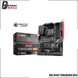 MSI B450 TOMAHAWK MAX ATX AMD B450 B450M DDR4 4133(OC) MHz,M.2,SATA3, USB3.1,USB3.2,HDMI,DVI,64G,best support R9 CPU Socket AM4(China)