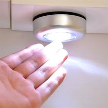 AAA батарея питание светодиод под шкаф свет светодиод сенсорный шкаф свет беспроводной ночник лампа для кухня шкаф спальня освещение