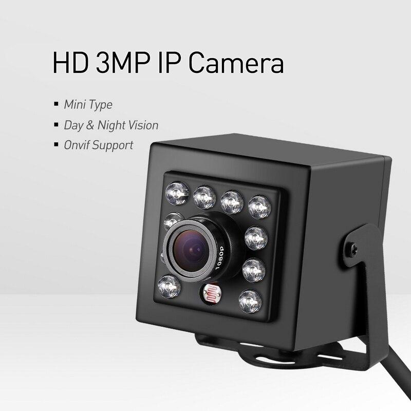 H 265 Mini HD 3MP IP Camera LED IR Indoor 1296P 1080P CCTV Night Vision P2P Security Black System Video Surveillance Cam in Surveillance Cameras from Security Protection