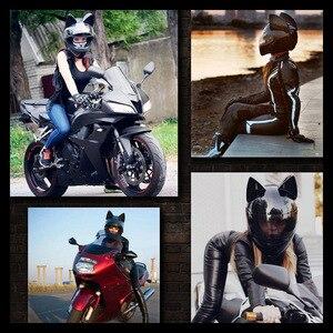 Image 5 - Matte Black Motorcycle Helmet Moto Helmet Moto Ear Helmet Personality Full Face Motorbike Riding Racing Helmet For Men Women