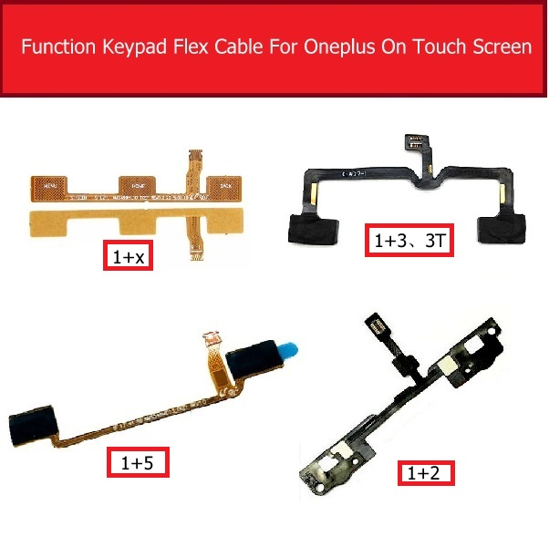 Function Keypad Flex Cable For Oneplus 1+2 3 3t 5 X Menu Button Sensor Function Sensor Flex Ribbon Cable Replacement Parts
