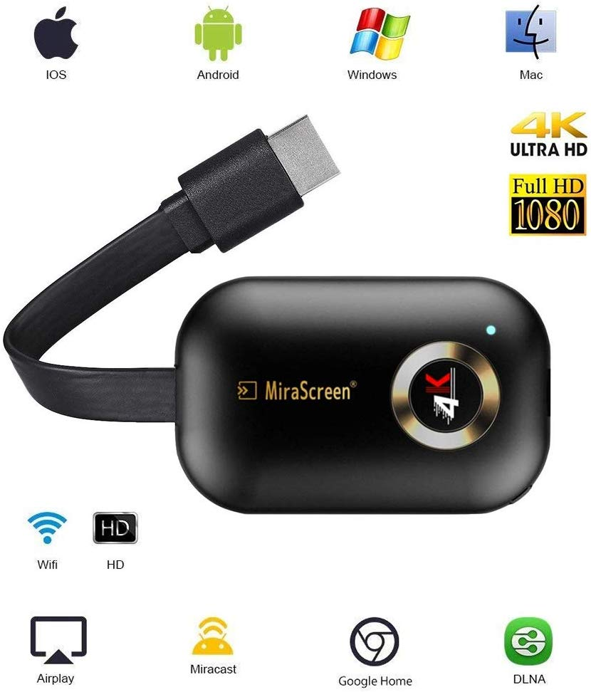 MiraScreen Wifi 5G Stick Spiegel Original HDMI Wireless Adapter Display Dongle für Android Mini PC Iphone Apple TV Anycast