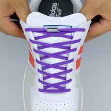 1 para sznurówki których nie trzeba wiązać okrągłe elastyczne buty sznurowadła dla dzieci i trampki dla dorosłych sznurowadła szybkie leniwe sznurowadła 16 kolorów sznurowadła tanie tanio LEEPO Stałe XD001 COTTON