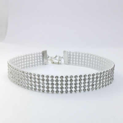 2019 Women 3 Style Necklace Wedding Silver Full Crystal Rhinestone Choker Necklace for Women Fashion Gifts