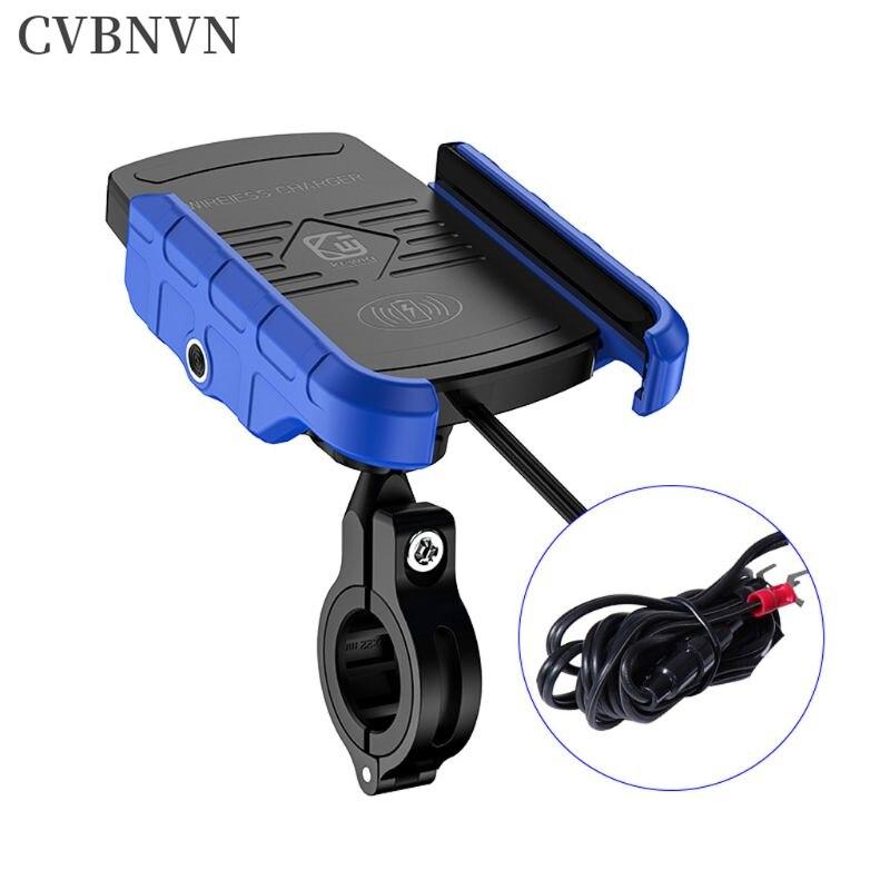 Étanche 12V moto Voiture Support Smartphone Voiture charge sans fil chargeur Support monture pour Support Support lada Support de verre