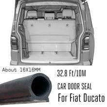 D 모양 10M 자동차 도어 씰 스트립 EPDM 고무 방음 창 부팅 트렁크 피아트 Ducato 250 290 푸조 박서 시트로엥 릴레이
