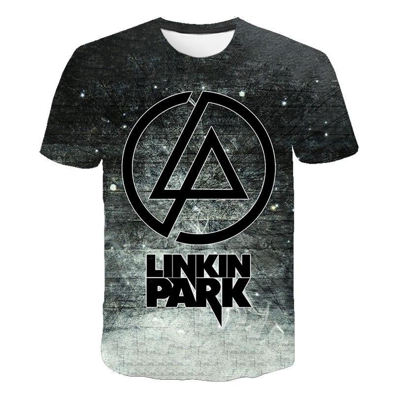 Men Women New Style Tops Linkin Park T Shirt Hip Hop Lincoln Summer Rock Men's Short Sleeve T-Shirt Fashion Casual Children Tees