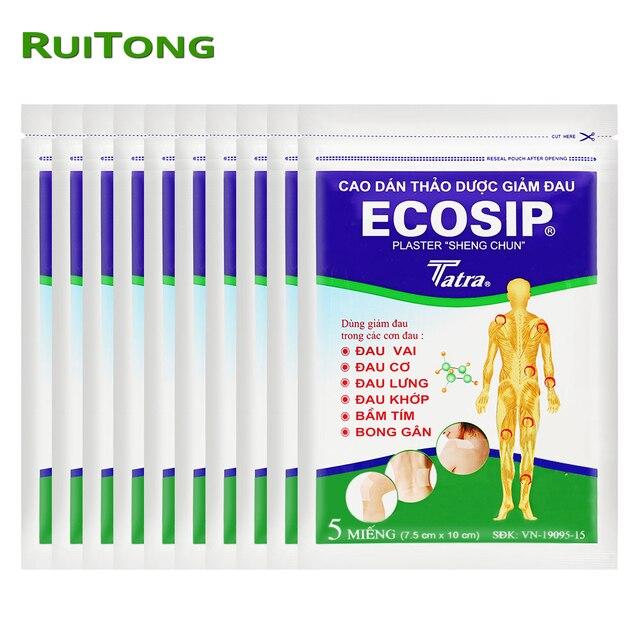 50 pçs/lote Vietnã Ecosip Erva Tratamento Gesso reumatismo Osteoartrite Osso Yperplasia Auto Adesivo de Patch Alívio Da Dor