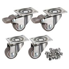 4 Pack 1 inch Low Profile Casters Wheels Soft Rubber Swivel Caster with 360 Degree Top Plate 100 lb Total Capacity for Set of 4 all metal 360 degree reflective copper coated prism for robotic total station