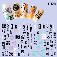 Black White gold Silver English Letters Nail Sticker  Wraps Sliders Nail Decals Nail Foil Fall Nail Art  Nail Flowers Manicure nail sticker starry sky nail sticker set christmas halloween theme design nail decals wraps sliders nail art manicure