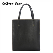KUDIAN BEAR Fashion Male Tote Bag Men Shoulder Bags PU Leather Business Bucket Handbag Casual Mens Composite Bags BIX327 PM49
