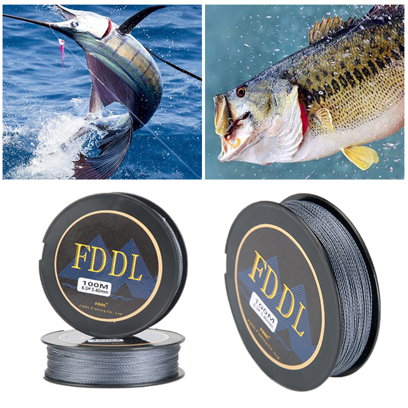 100 Meters Strong Fishing Line Super Power Fish Lines Wire PE Nylon Line Multifilament Fishing Wire Carp Fishing Braided Wire image