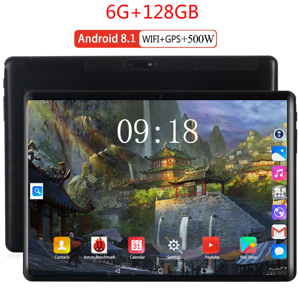 2020 Super Tempered 2.5D Screen 10.1 Inch Tablet PC Android 8.0 Octa Core 6GB RAM 128GB ROM 8 Cores Tablet  For Kids