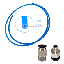 цена на 4mm Tube With PC4-M6 & PC4-M10 Pneumatic Connector For Ender 3 Upgraded PTFE  For 3D Printer Part Accessories