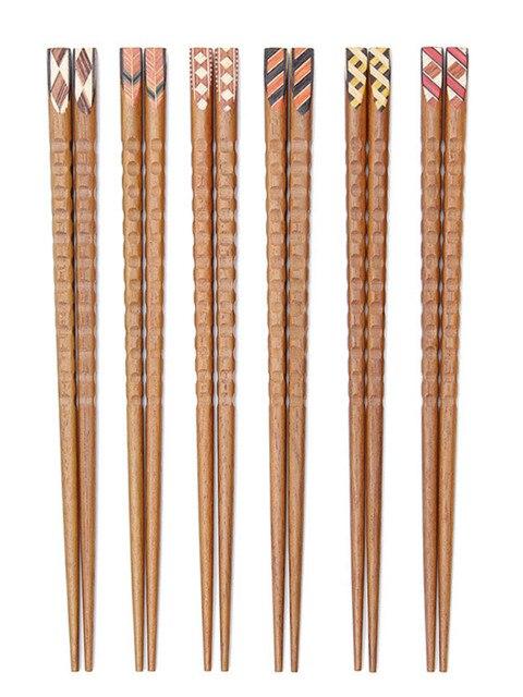 Купить 3 пары корейских японских палочек для еды из твердой древесины картинки цена