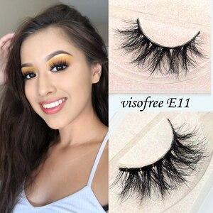 Image 1 - Visofree Mink Eyelashes Crisscross Natural False Eyelashes Eyelash Extension Full Strip False Lashes Handmade Fake Eyelashes E11