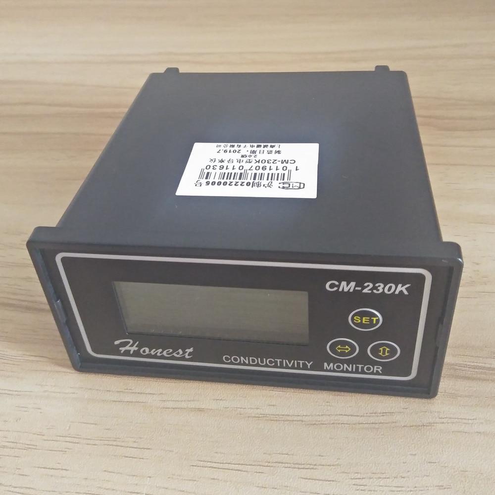 CM-230K en ligne moniteur de conductivité testeur compteur analyseur Contact relais NC 0-1999us/cm erreur 2% FS ATC alarme sortie 4-20mA - 2