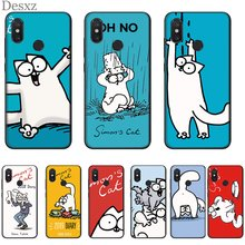 Mobile Phone Case Silicone For Xiaomi Redmi Note 4 4X 5 6 7 Pro 5A Prime Cover Cat Bag Shell(China)