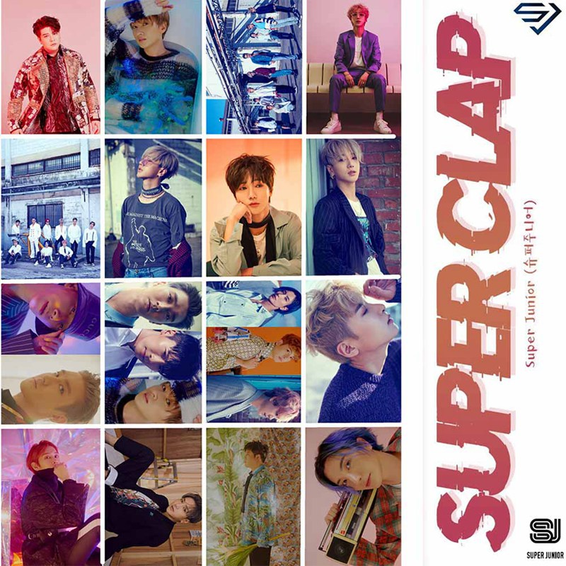 New 16Pcs/set KPOP SUPER JUNIOR SUPER CLAP Album Photo Card PVC Cards Self Made LOMO Card Photocard