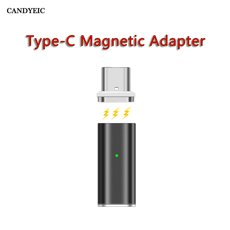CANDYEIC 3A Electric Current Magnetic Type-C Adapter For Samsung Huawei Honor LG HTC Xiaomi Redmi ZUK 2.0 Adapter Charger 2.0