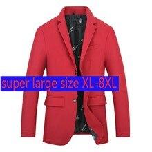 2020 New Arrival Fashion Super Large Autumn Men Single Breasted Casual Suit Coat Plus Size XL 2XL 3XL 4XL 5XL 6XL 7XL 8XL