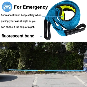 Image 3 - BENOO 5M/4M/3M 8T Universal Tow Rope Recovery Strap High Strength Towing Strap with Two Safety Hooks & Reflective Strip Gloves
