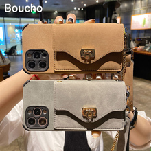 Small Purse Flannel pattern Leather Phone Bag Card package for iphone 12 11 Pro MAX XS XR X 7 8 plus with Chain and handing Rope