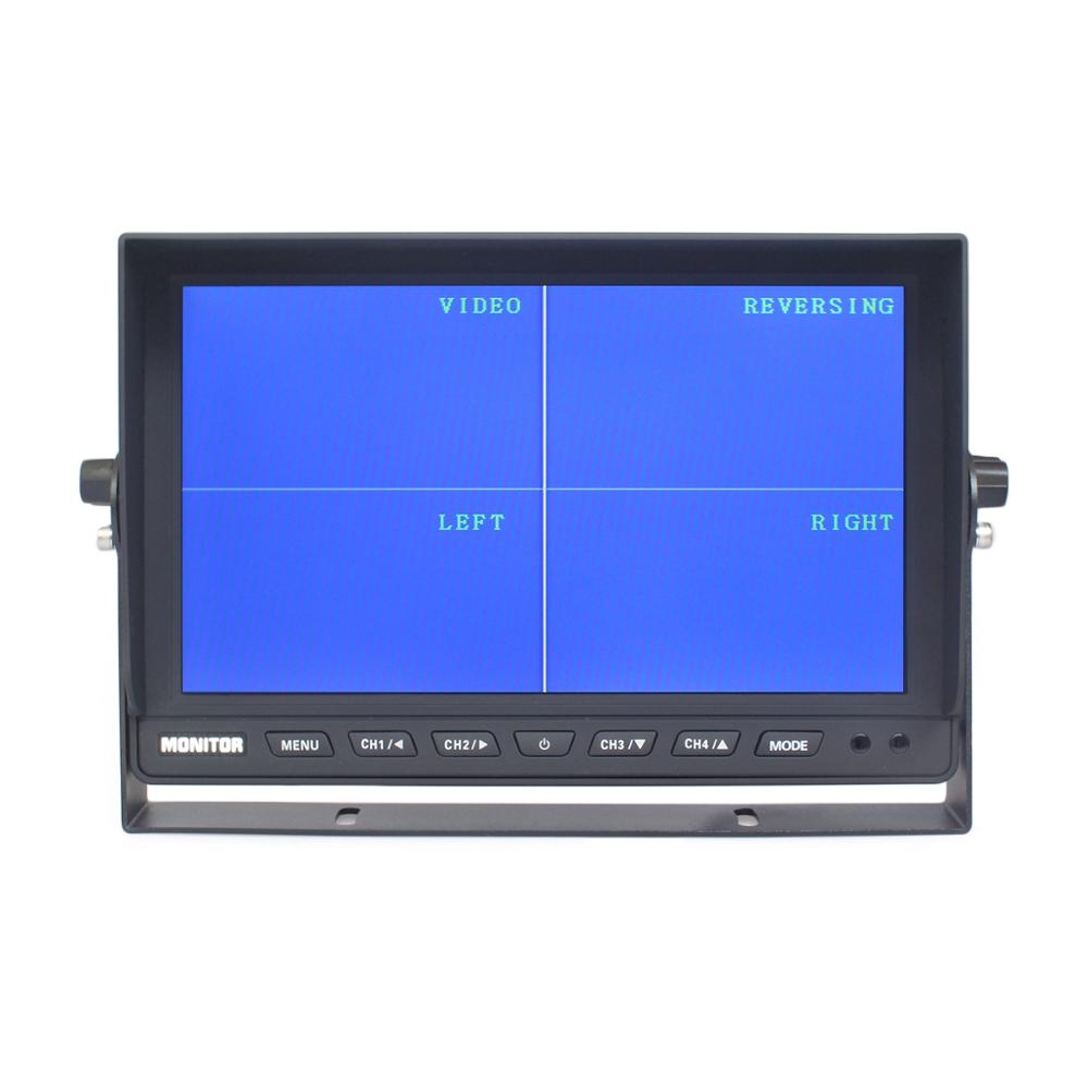 Image 2 - DIYKIT 10 Inch Split Quad Display Color Rear View Monitor Car Monitor for Car Truck Bus Reversing Cameracar monitor touchscreencar pc touch screen monitorcars monitor -