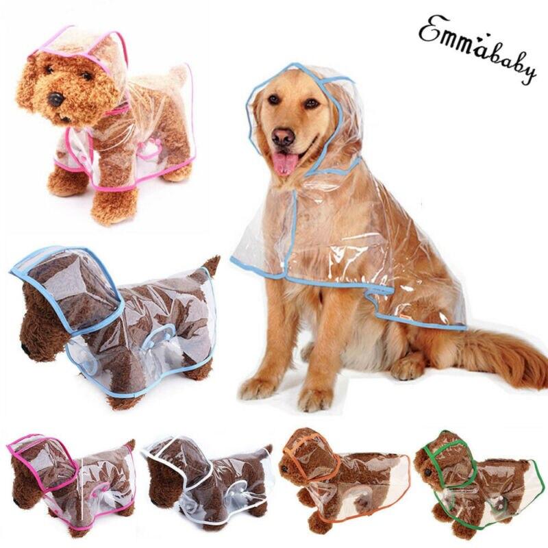 Fashion Pet Clothes Transparent Pet Small Dogs Raincoat PVC Waterproof Rain Coat For Dogs Pet Supplies XS-2XL