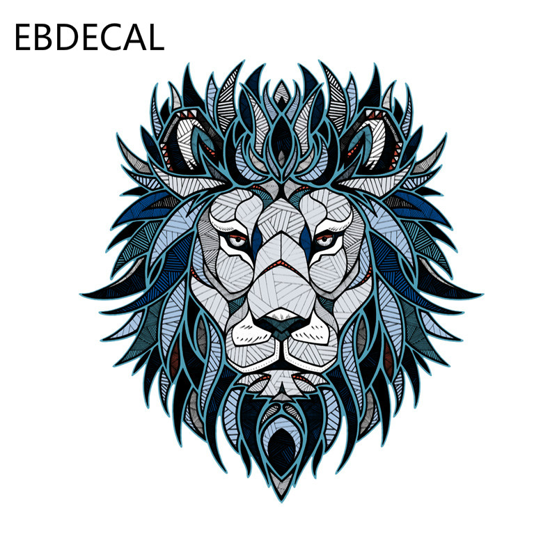 EBdecal Creative Lion Head Pattern Decal  For Auto Car/Bumper/Window/Wall Decal Sticker Decals DIY Decor CT5562