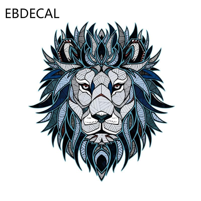 Ebdecal 크리 에이 티브 사자 머리 패턴 데 칼 자동차/범퍼/창/벽 데 칼 스티커 데 칼 diy 장식 ct5562